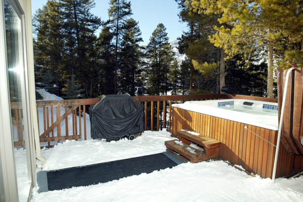 Snow Melting on a Deck